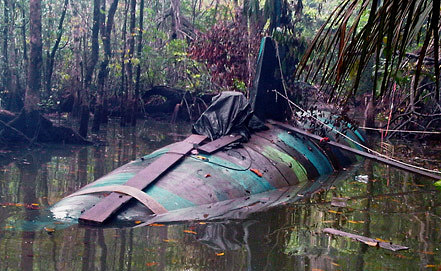 "Подводная лодка класса ""Narco submarino"". Фото EPA/ИТАР-ТАСС"