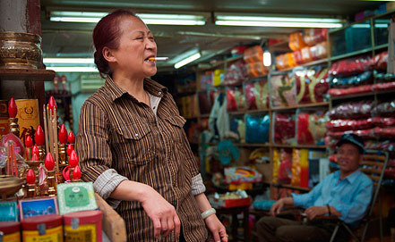 На шанхайском рынке. Фото А.Струнина