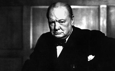 Уинстон Леонард Спенсер-Черчилль. Репродукция Фотохроники ТАСС
