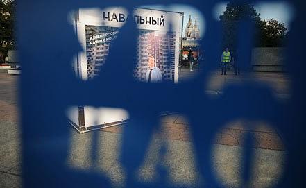 Агитационные плакаты в поддержку Алексея Навального. Фото ИТАР-ТАСС/ Вячеслав Прокофьев