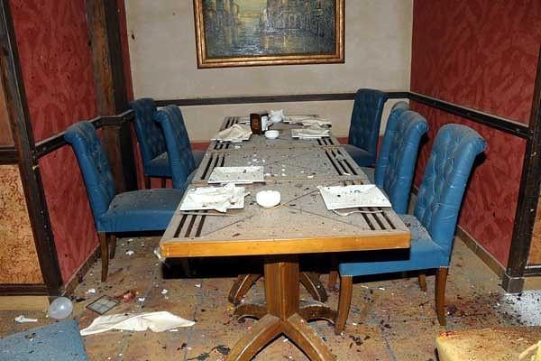 Место взрыва. Ресторан Капо Грило. Фото SANA