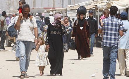 Лагерь сирийских беженцев в Иордании. Фото EPA/ИТАР-ТАСС