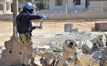 Один из инспекторов ООН в Сирии. Фото EPA/ИТАР-ТАСС