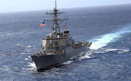 """Американский эсминец """"Бэрри"""". Фото из архива EPA/MC2 TROY MILLER / US NAVY"""