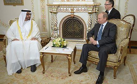 Встреча Владимира Путина и Мухаммеда Аль Нахайяна. Фото ИТАР-ТАСС/ Алексей Дружинин