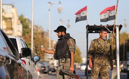 На въезде в Дамаск. Фото ИТАР-ТАСС/ Михаил Почуев