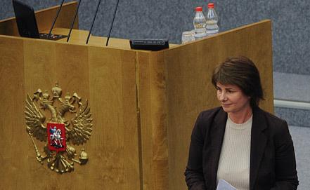 Председатель комитета ГД РФ по финансовому рынку Наталья Бурыкина. Фото ИТАР-ТАСС/ Александра Мудрац