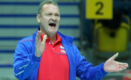 Главный тренер сборной России Андрей Воронков  EPA/PIOTR WITTMAN POLAND OUT