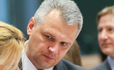Министр сельского хозяйства Вигилиюс Юкна. Фото EPA/OLIVIER HOSLET
