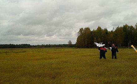 Запуск беспилотного летательного аппарата «Бусел – М». Фото uvd-mo.gov.by