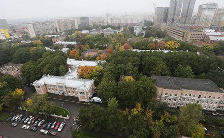 Вид на Морозовскую детскую городскую клиническую больницу. Фото ИТАР-ТАСС/ Артем Геодакян
