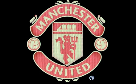 "Официальная эмблема ""Манчестер юнайтед""      Фото EPA/JUSTIN LANE"