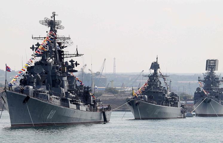 Russian Black sea fleet in Ukraine's Sevastopol (archive)