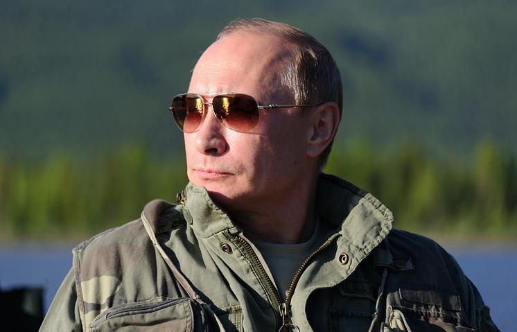 Russian President Vladimir Putin in Sayano-Shushensky nature reserve
