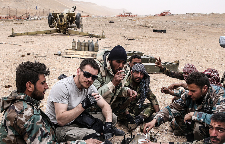 Valeriy Sharifulin and Syrian soldiers