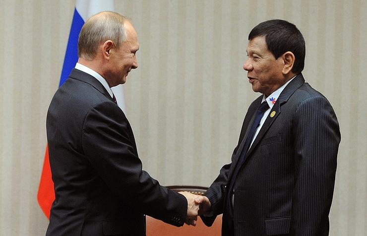Russian President Vladimir Putin and President of the Philippines Rodrigo Duterte