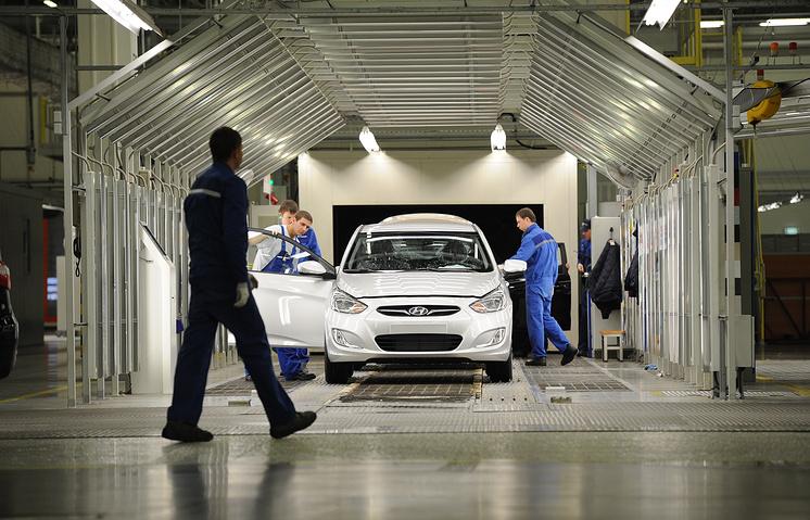 На заводе Hyundai в Петербурге