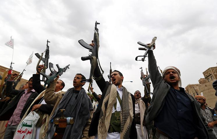 Акция шиитов против авиаударов Саудовской Аравии в Сане