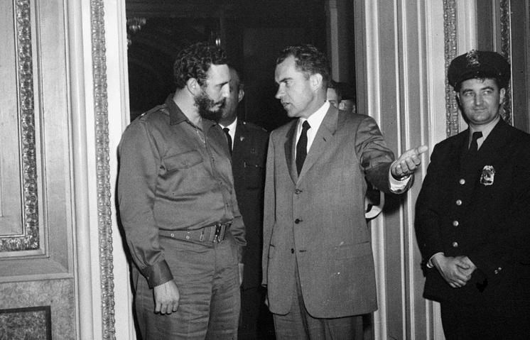 Фидель Кастро и Ричард Никсон в Вашингтоне, 19 апреля 1959 года