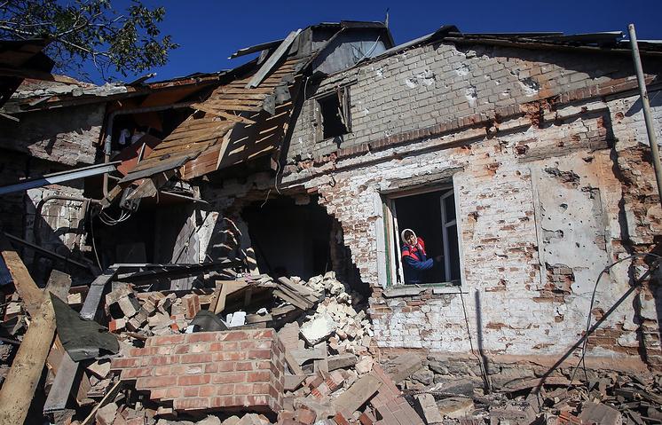 Последствия артобстрелов в ДНР