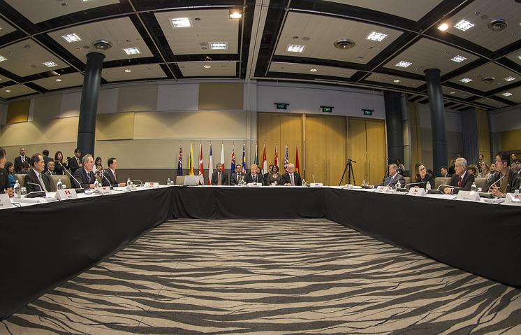 Министры торговли 12 стран перед подписанием ТТП