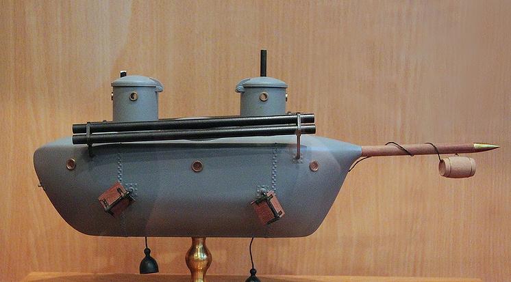 Модель подводной лодки К.А.Шильдера