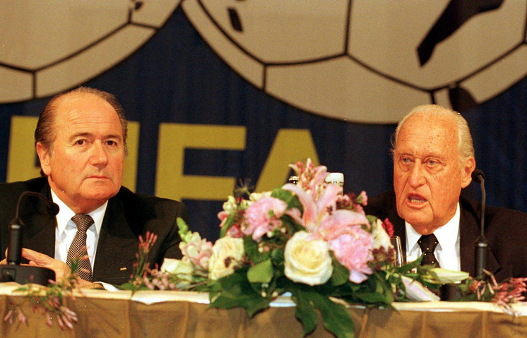 Йозеф Блаттер и Жоао Авеланж