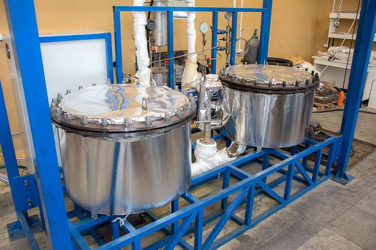 Установка для переработки шин в Физико-энергетическом институте Обнинска