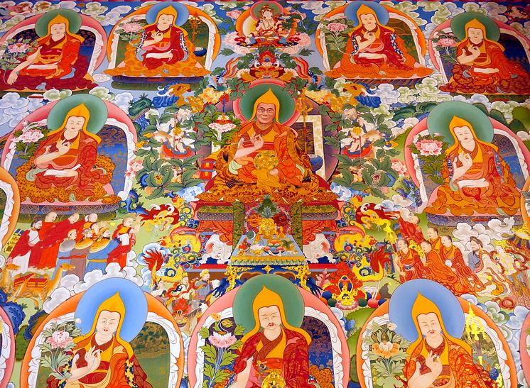 Роспись на стенах храма